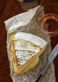 """""""...slightly pungent flavor in enveloped by silky dairy overtones, as if the cows were fed only heavy cream during their blissful lives..."""". #cheese #food"""