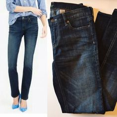 "J. Crew matchstick denim Straight leg style.  Great condition.  32"" inseam, 7"" leg opening, 8"" rise, 16"" waist laid flat.   No trades. Reasonable offers welcome Note: 20% off bundles of 2+ items in my closet! J. Crew Jeans Straight Leg"