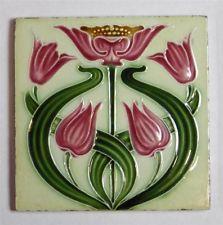 Antique Art Nouveau Tile by Alfred Meakin c1907