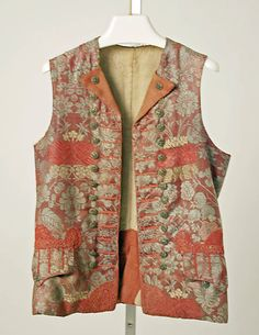 Waistcoat  Date:     18th century Culture:     German Medium:     wool, linen Dimensions:     Length at CB: 23 1/2 in. (59.7 cm) Credit Line... Accession Number:     C.I.46.9.53