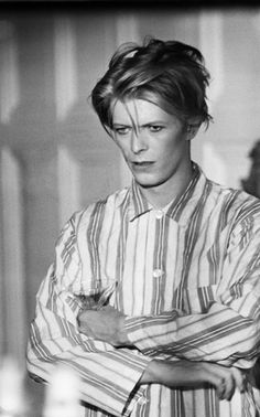 David Bowie on the set of The Man Who Fell To Earth in New Mexico, 1975