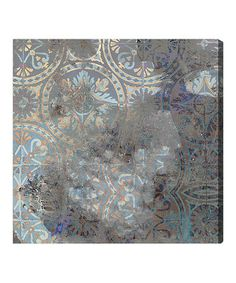 Two Canvas over bed.  Oliver Gal Rusted Geometrica Wall Art by Oliver Gal #zulily #zulilyfinds