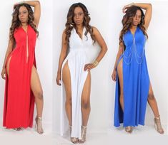 DIY.  Double Slit Maxi Dress ( Easy Sewing)