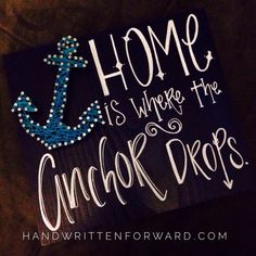 Home is Where the Anchor Drops  String Art! www.handwrittenforward.com
