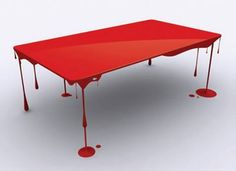 Painting licking table