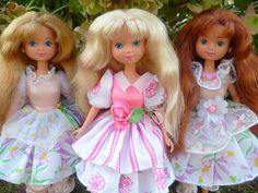 My Peppermint Rose group is now complete! from left: Lemon Kiss Lily, Peppermint Rose, Vanilla Daisy by Patty Is Totally Addicted To Barbie, via Flickr