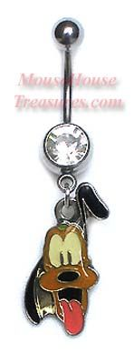 Pluto Head Belly Ring