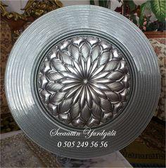YURTGÜLÜ RÖLYEF +90 0505249 56 56 Metal Worx, Metal Embossing, Pewter, Stencils, Decorative Plates, Storage, Diy, Home, Art