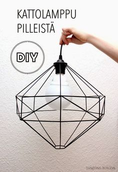 Diy Crafts Ideas Magdan kotona: Diy uusi lamppu + ohje -Read More – Luminaria Diy, Diy Straw, Diy Pendant Light, Pendant Lamp, Lampe Decoration, Diy Interior, Home And Deco, Diy Projects To Try, Diy Furniture