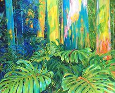 Rainbow Eucalyptus (2016) Oil on Canvas, 162 X 130 cm by Maite Rodriguez http://www.maiterodriguez.es