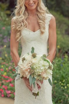 country wedding dress front closeup