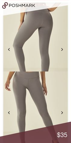 3bd5422abba9e7 Fabletics Gray Leggings Gently loved solid power hold leggings! These squat  proof Fabletics leggings are