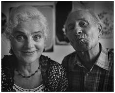 Freaks  Cecylia Buczyńska Buza with her husband.  Made from a negative, original print, Baryte paper, black-and-white photography. Fine art photographs.  www.fryderykdanielczyk.com www.fryderykdanielczykstore.com/