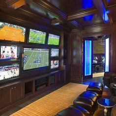 multiple tvs - Dream Sports Cave!