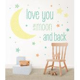 Found it at Wayfair - WallPops I Love You To The Moon Wishes 49 Piece Wall Decal Set