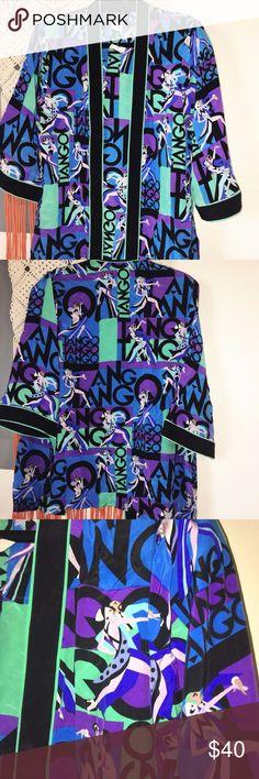 """New Bob Mackie Tango Theme Kimono Bob Mackie Women's Art to Wear Kimono. Tango theme. Size medium. Pit to Pit: 20"""" Pit to Sleeve: 11"""" Bob Mackie Tops Blouses"""