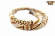 """Exclusive jewelry by Elena Rusinovich -KITTEN UMKA-: Жгут из бисера """"Treasure"""""""