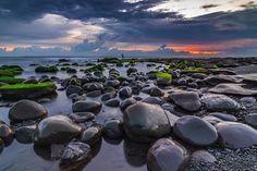 Boulders in Selabih Beach by Budiastawa