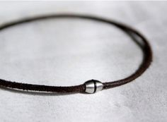 Mens Cowhide Leather Cord Necklace Mens Leather Necklace