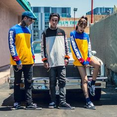 Streetwear is a style of casual clothing which became global in the hip hop, punk and Japanese street fashion. Eventually haute couture became an influence. Black Lace Shorts, Black Dress With Sleeves, Polo, Japanese Street Fashion, Long Sleeve Bodysuit, Mens Sweatshirts, Cool Shirts, Street Wear, Casual Outfits