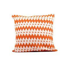 "Wavy Stripes Pillow 16"" Orange, $30, now featured on Fab."