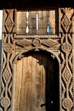 Wooden Crosses, Wooden Gates, Environment Design, Traditional House, Wood Carving, Romania, Interior Architecture, Egypt, Europe
