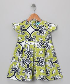 Take a look at this Green & Navy Dress - Infant, Toddler & Girls by Garden Party: Darling Dresses on #zulily today!