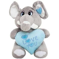 Modrý sloník so srdiečkom I LOVE YOU