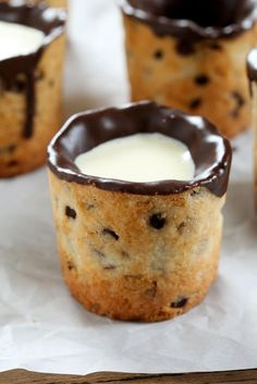 Gluten Free Milk and Cookie Shots. They're way, way easier than you think. Just like the Dominique Ansel invention, but gluten free for you!