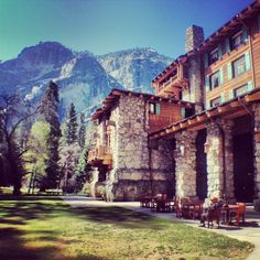 This gorgeous hotel is the Ahwahnee in Yosemite