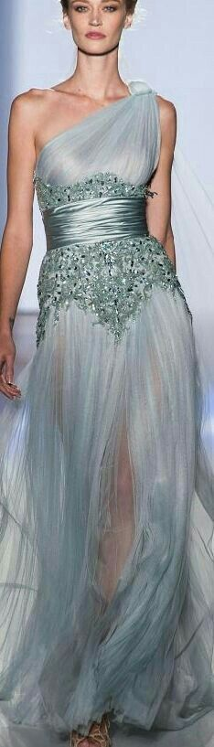 This would be a stunning dress if it wasn't see through.