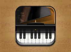 iPhone icon, gran piano by VisualPharm