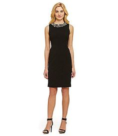 5ee386c86b7 Calvin Klein Pearl Neckline Sheath Dress  Dillards Kylie Dress