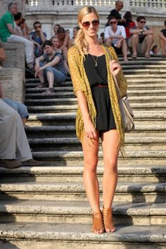 Wear a belt with my romper, and coverup with  a light cardy or wrap