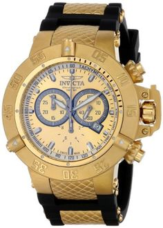 Men's Wrist Watches - Invicta Mens 5517 Subaqua Collection GoldTone Chronograph Watch ** Check out this great product.