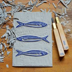Quotes and inspiration QUOTATION - Image : As the quote says - Description linogravure sardines la fabutineuse 6 Sharing is love, sharing is everything Stamp Printing, Screen Printing, Lino Art, Art Texture, Stamp Carving, Handmade Stamps, Linoprint, Linocut Prints, Art Plastique