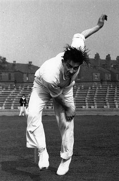 Still my all time hero 'Fiery' Fred Trueman. I've got a limited edition print of a painting of this photo - how sad is that. Every week during the summer when i go to Scarborough cricket ground I can see in my mind's eye an expectant, silent, tense crowd as Fred came into bowl, with his finest of all actions. Then the 'oohs' and 'ahs' and wisecracks. No more thrilling sight and no greater Yorkshire and England cricketer (apologies to the 2 great Kirkheaton all rounders Rhodes and Hirst).