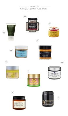 Need to try all of these natural and organic face masks!