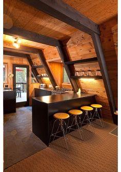 modern kitchen by Popp Littrell Architecture + Interiors Like black slate floor tile Daltile