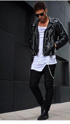Mode De Sport, Mode Homme, Mode Élégante, Vestes En Cuir, Vêtements Pour d0960ecb96d