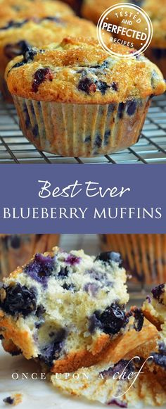 Best Blueberry Muffins Searching delicious and easy breakfast idea ? This blueberry muffins recipes will soon become your favorite breakfast recipe keeper! Best Blueberry Muffins, Blueberry Jam, Lemon Muffins, Blueberries Muffins, Frozen Blueberries, Blueberry Muffin Recipes, Blue Berry Muffins Healthy, Recipes With Fresh Blueberries, Frozen Blueberry Recipes