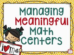 Managing Meaningful Math Centers: All about how a third grade teacher organizes her guided math and math center time.