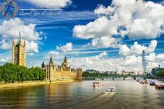 Thames river in London. Great day for a walk. River Thames, Big Ben, Clouds, London, Day, Building, Travel, Outdoor, Outdoors