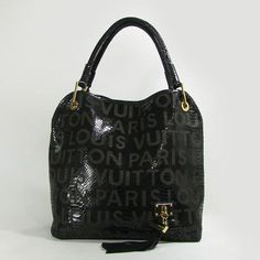 Super Louis Vuitton Whisper Cow Leather Shopping Bag-Black 07830