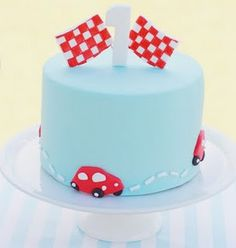 Race car cake. so simple! love!