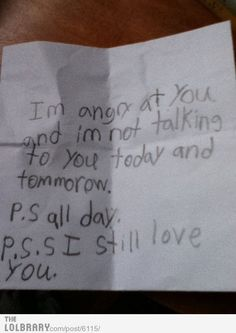 I'm angry at you....litlle girl;s note