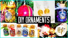DIY Christmas tree ornaments! Harry Potter inspired!