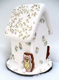 Hand-painted Gingerbread Owl-houses