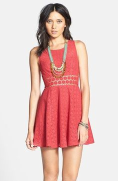 Free People 'Daisy' Lace Fit Flare Dress. Looks like something @kherbers might wear...