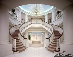 Curved Stairs in Main hallway
